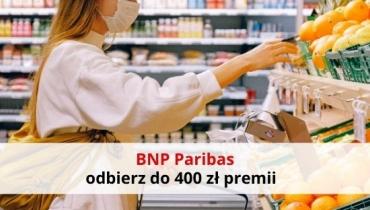 BNP Paribas: 400 zł premii za aktywne korzystanie z konta!