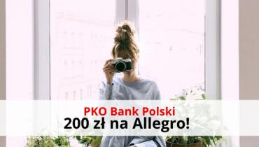 Otwórz konto osobiste PKO BP i odbierz 200 zł na Allegro!