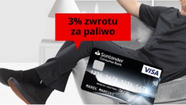 3% zwrotu za paliwo z kartą Santander Consumer Banku